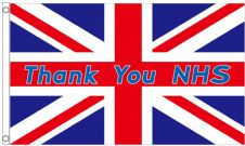Thank You NHS Union Jack 5'x3' (150cm x 90cm) Flag